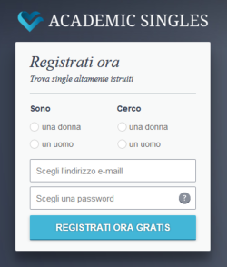 Academic Singles Registrazione